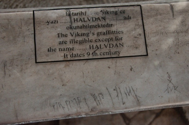 Possible Viking Graffiti From The Hagia Sophia Image Credit The Wandering Scot